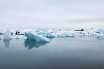 Iceberg Lagoon in Iceland. Ice lake in Iceland near glacier