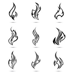Fire flames. Abstract element for design. Illustration.