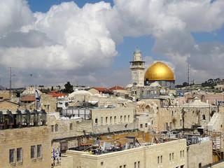 Felsendom, Tempelberg und Klagemauer in Jerusalem, Israel