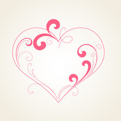 Abstract floral heart. Element for design
