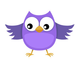 funny happy owl illustration for your design