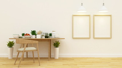 pantry and studio picture - 3d rendering