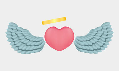 Heart with wings and a halo