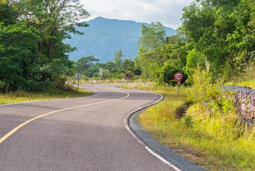 Road in Bokor National Park - near Kampot, Cambodia