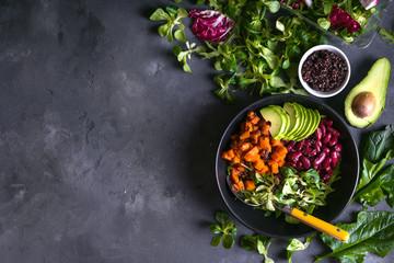 Quinoa salad background