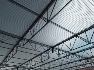Industrial Building Metal Roof 3d Illustration