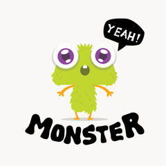 cute Monster Logo