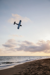 A flying toy plane