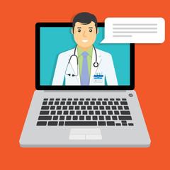 Online doctor, medical consultation.