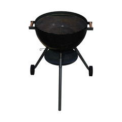 3D Rendering Kettle Barbecue Grill on White