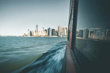Skyline seen from Ferry - New York
