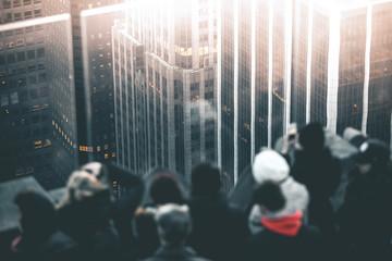 Visitors enjoying Manhattan View - New York