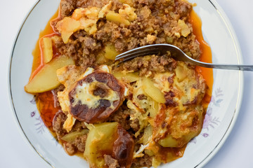Plate with moussaka