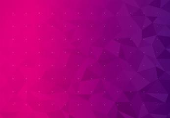 背景 ビジネス イメージ ローポリゴン(マゼンタ)