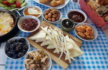 Breakfast- traditional Turkish breakfast