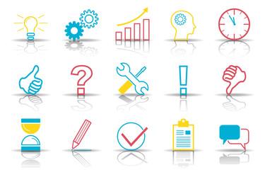 Business - Icons zum Thema Kreativität (Bunt)