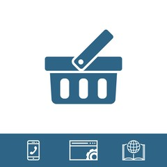 bascet icon stock vector illustration flat design