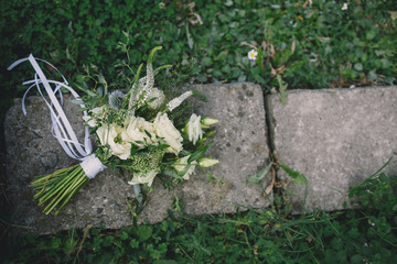 bouquet on the grass