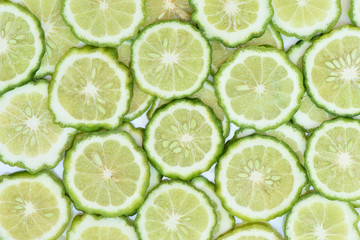 Bergamot slice for background