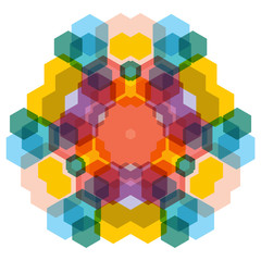 Abstract background of kaleidoscope