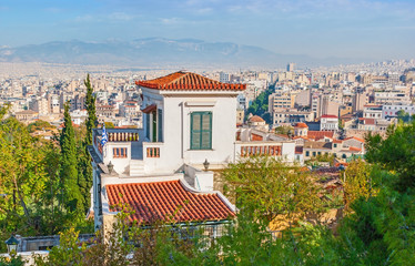 The view on central Athens