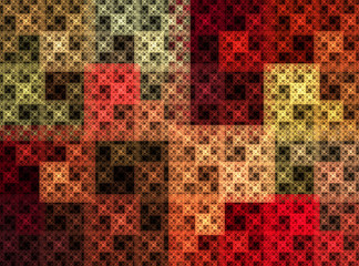 Abstract quilted texture pattern