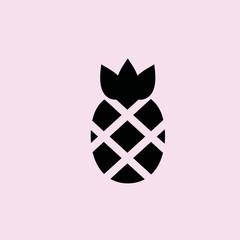 Pineapple icon. flat design