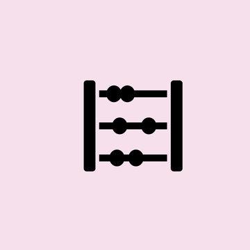 abacus icon. flat design