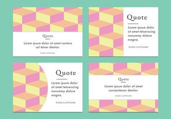 Pastel Geometric Pattern Postcards