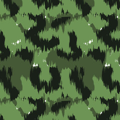 Abstract camouflage pattern on an isolated  background