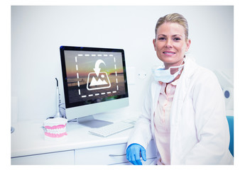 Dentist at Computer Desk