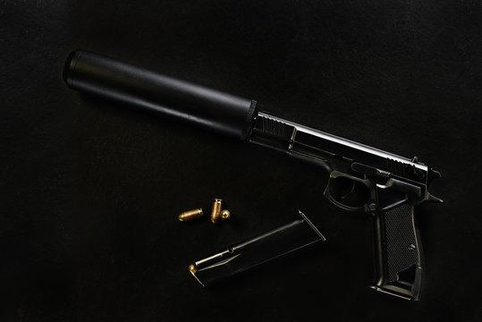 gun with a silencer