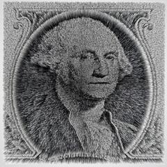 3D rendering US dollar image fragment