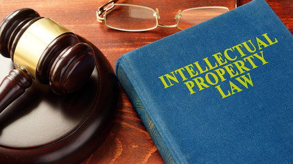 Book with title Intellectual Property Law.
