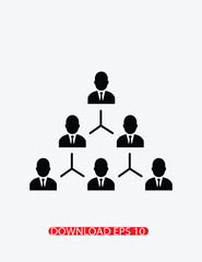 Hierarchical structure icon, Vector