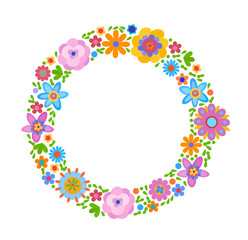 Decorative frame from flowers