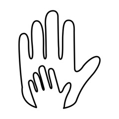 hands human protection icon vector illustration design