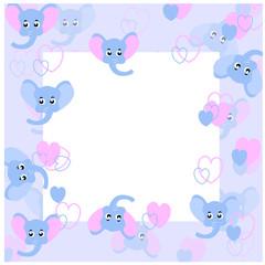 baby seamless pattern frame