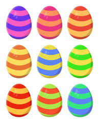easter egg set vector symbol icon design.