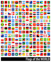 Square Flags of the World - Full Ultimate Collection