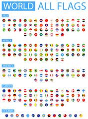 All World Vector Round Flags