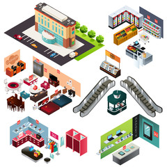 Shopping Mall Isometric