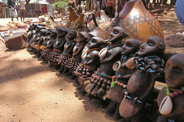 Traditional souvenirs of Hamer tribe, Omo Valley, Ethiopia.