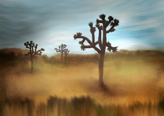 Joshua Tree - Digital Painting