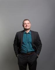 Studio portrait of a prideful businessman
