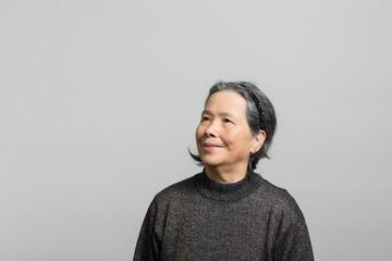 Studio portrait of a prideful senior woman