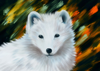 Polar Fox - Digital Painting