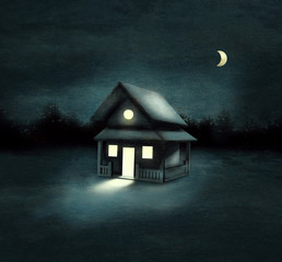 House In The Darkness Forest