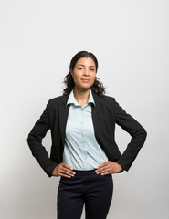 Studio portrait of a confident businesswoman