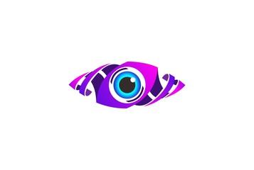 Eye Logo design vector template. Colorful media icon. Creative Vision Logotype concept. Colorful Eye Logo vision.